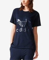 adidas Ribbed Logo Boyfriend T-Shirt