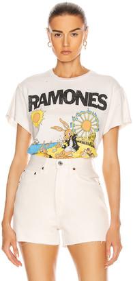MadeWorn Ramones Rockaway Beach Tee in Off White | FWRD