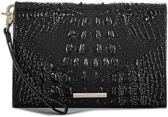 Brahmin Sara Croc Embossed Leather Clutch
