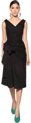 Marni Draped Cotton Poplin Dress