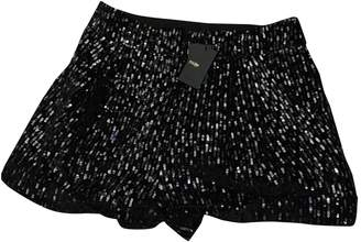 Maje Fall Winter 2018 Black Glitter Shorts for Women