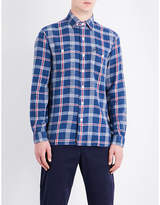 Polo Ralph Lauren Checked slim-fit linen and cotton-blend shirt
