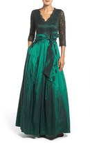 Eliza J Lace & Taffeta Gown