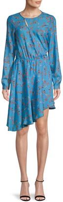 Parker Floral-Print Asymmetrical Dress