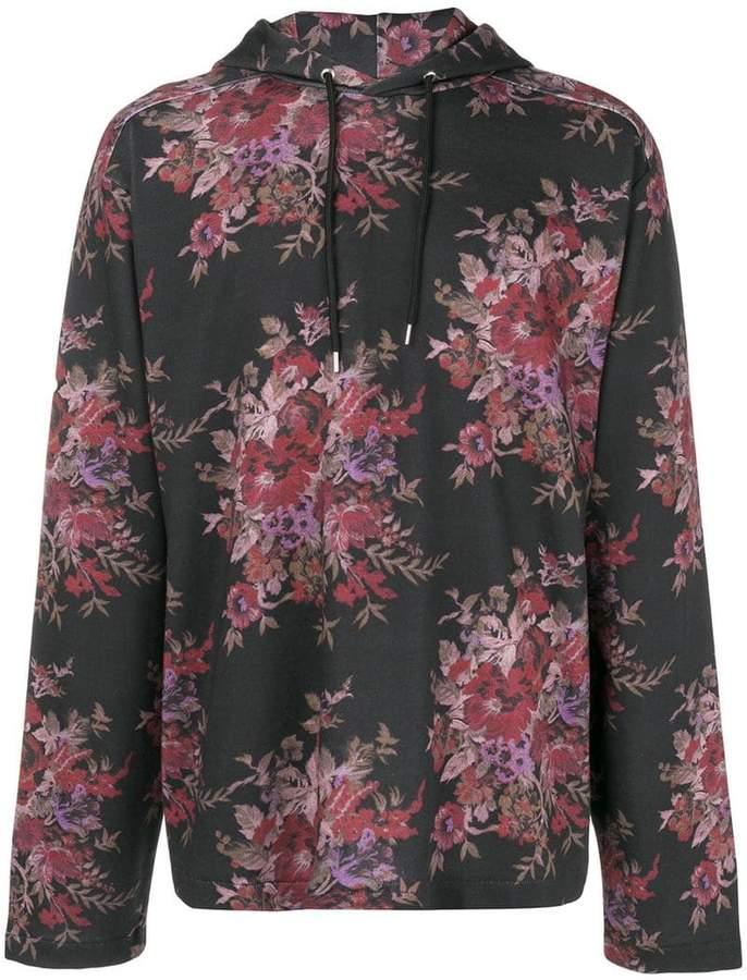 McQ floral-print hoodie