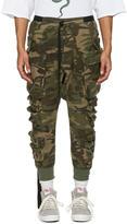 Unravel Green Camo Parachute Cargo Pants