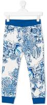 Roberto Cavalli floral print track pants