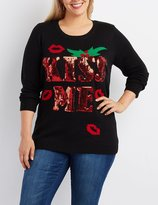 Charlotte Russe Plus Size Kiss Me Holiday Sweater