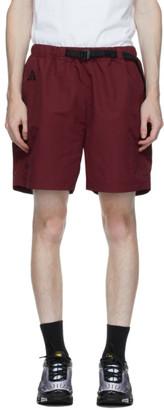 Nike ACG Burgundy Nylon Logo Shorts