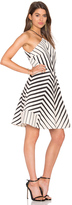 Halston Stripe Halter Dress