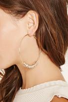 Forever 21 Rhinestone Hoop Earrings