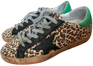 Golden Goose Superstar Multicolour Pony-style calfskin Trainers