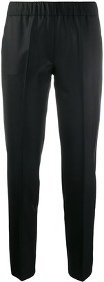 D-Exterior Elasticated Waistband Pull-On Trousers