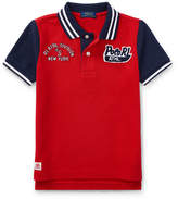 Ralph Lauren Mesh Athletic Patches Polo, Size 2-4