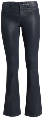 L'Agence Bell High-Rise Coated Flare Jeans