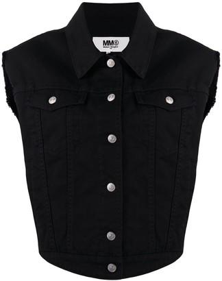 MM6 MAISON MARGIELA Sleeveless Denim Jacket