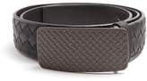 Bottega Veneta Engraved-buckle intrecciato leather 3.5cm belt