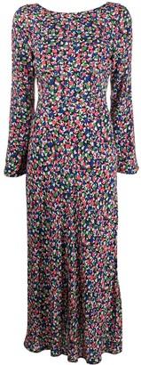 Rixo Mimi Smudge print dress