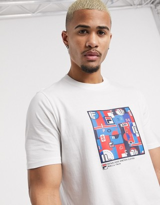 Fila Lively graphic t-shirt in white