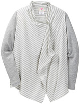 Hip Drapey One-Button Cardigan (Big Girls)
