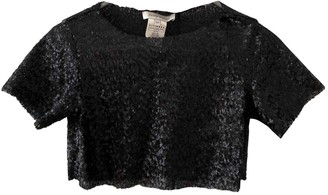 Pierre Balmain Black Glitter Top for Women