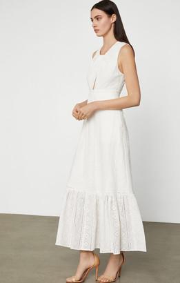 BCBGMAXAZRIA Cotton Eyelet Maxi Dress