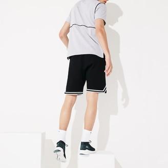 Lacoste Men's SPORT Piping Detail Fleece Shorts