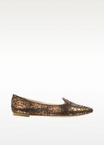 Sigerson Morrison Belle - Sadie 4 Black and Bronze Leather Loafer