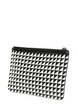Proenza Schouler Triangle Print Leather Medium Pouch