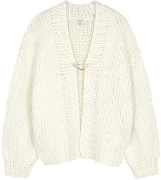 Gestuz Daia White Chunky-knit Cardigan