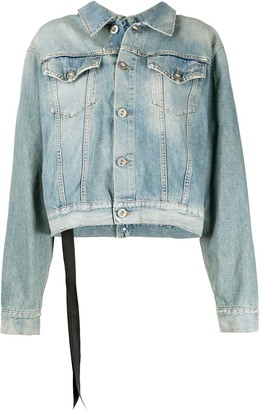 Unravel Project Stone-Wash Backwards Denim Jacket