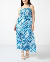 Penningtons Smocked Printed Maxi Dress