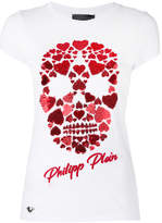Philipp Plein heart skull T-shirt