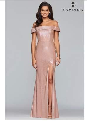 Faviana Classic Metallic Dress
