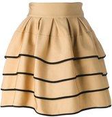 Fausto Puglisi striped short full skirt - women - Viscose/Polyamide/Spandex/Elastane - 40