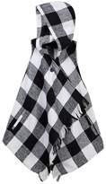 My Michelle mymichelle Hooded Buffalo Check Vest Wrap (Big Girls)