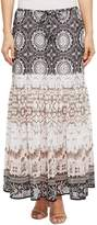 Tribal Printed Maxi Skirt