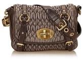 Miu Miu Pre-owned: Gathered Leather Shoulder Bag.