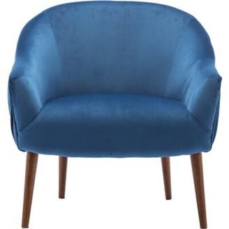 Mika Lounge Chair Corrigan Studio Fabric: Blue Velvet