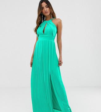 TFNC pleated maxi dress in green