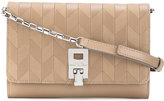 Michael Kors geometric shoulder bag - women - Camel Leather - One Size