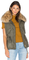 SAM. Dakota Vest with Asiatic Raccoon Fur