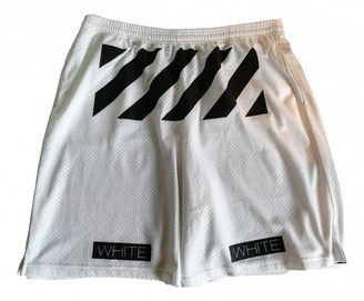 Off-White White Polyester Shorts