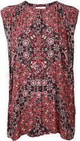 ASTRAET printed sleeveless blouse
