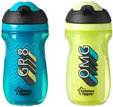 Tommee Tippee Insulated Sipper Tumbler - Blue/Green - 9 oz