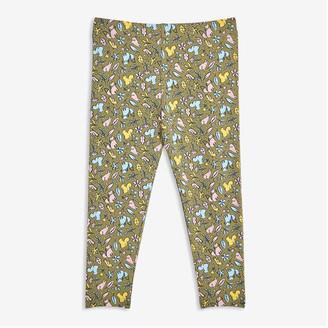 Joe Fresh Baby Girls' Print Legging, Olive (Size 3-6)