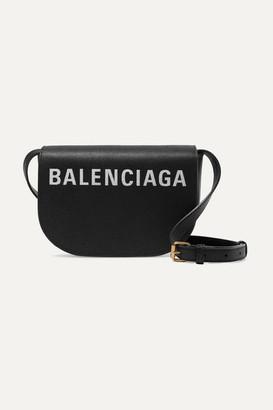Balenciaga Ville Day Xs Aj Printed Textured-leather Shoulder Bag - Black
