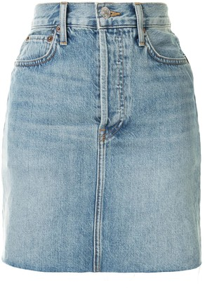 RE/DONE Fitted Short Denim Skirt