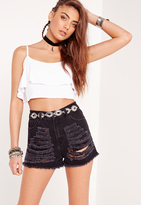Missguided Petite Exclusive Ruffle Crop Top White
