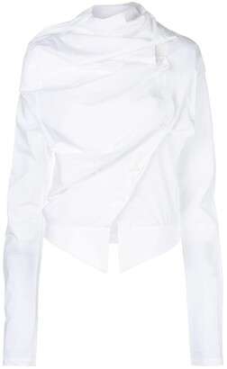 aganovich Asymmetric Draped Blouse